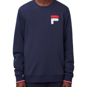 Fila Retro Embroidered Crewneck Sweatshirt Blue